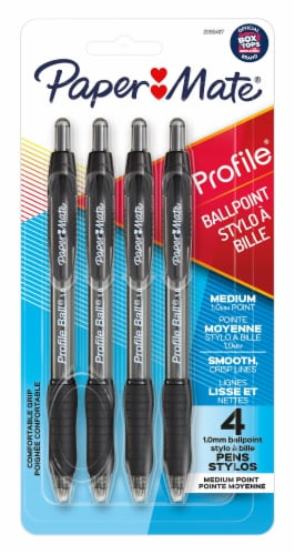 Paper Mate® Profile Ballpoint Pen - Black Perspective: front