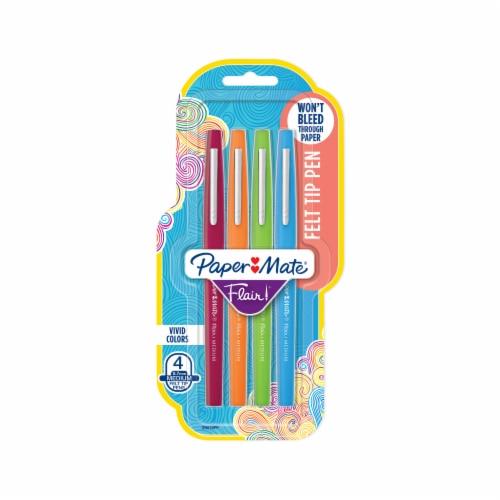 Paper Mate® Flair Medium Point Vivid Colors Felt Tip Pens - Assorted Perspective: front