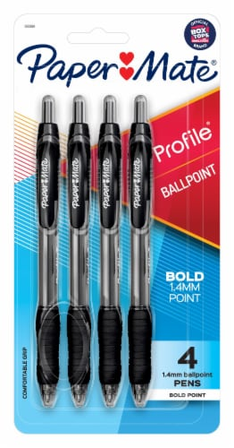 Paper Mate Profile Ballpoint Pens - Black Perspective: front
