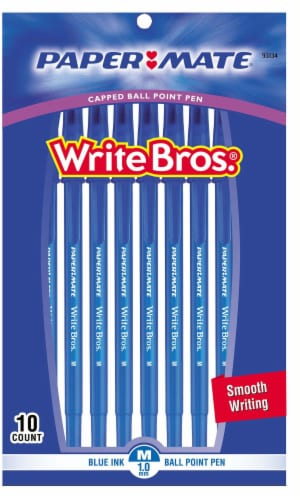 Paper Mate® Write Bros.® Ball Point Pen 10 Pack - Blue Perspective: front