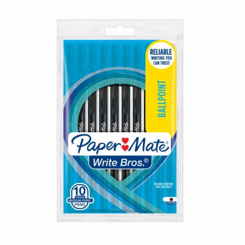 Paper Mate® Write Bros Ballpoint Pens - Black Perspective: front