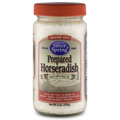 Silver Spring® Coarse Cut Prepared Horseradish Perspective: front