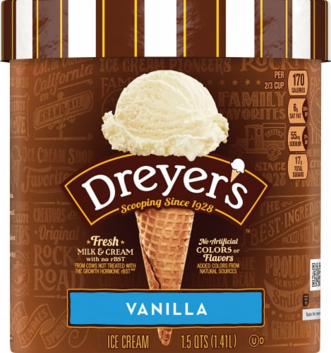 Dreyer's Vanilla Ice Cream Perspective: front