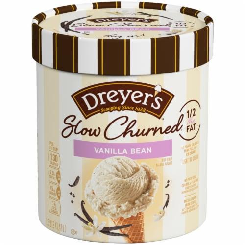 Dreyer's Slow Churned Vanilla Bean Light Ice Cream Perspective: front