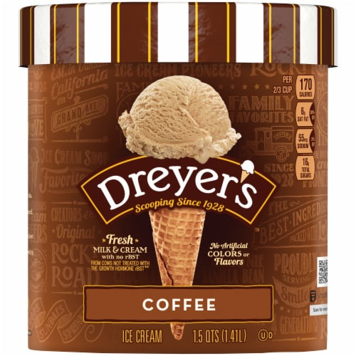 Dreyer's Coffee Ice Cream Perspective: front