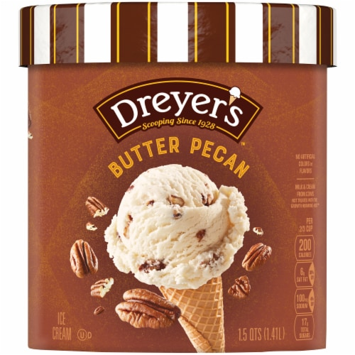 Dreyer's/Edy's Butter Pecan Ice Cream Perspective: front