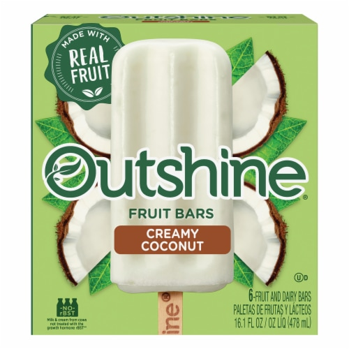 Outshine Creamy Coconut Fruit Bars Perspective: front