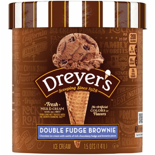 Dreyer's/Edy's Double Fudge Brownie Ice Cream Perspective: front