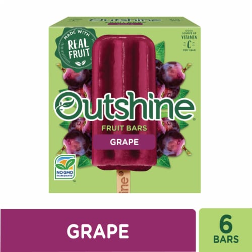 Outshine Grape Fruit Ice Bars Perspective: front