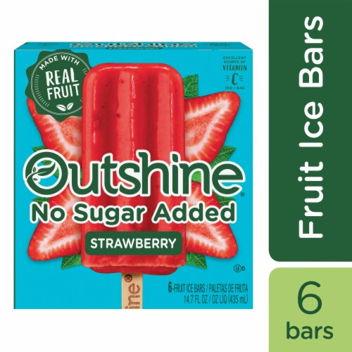 Outshine No Sugar Added Strawberry Fruit Ice Bars Perspective: front
