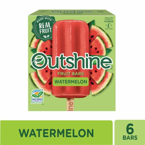 Outshine Watermelon Fruit Ice Bars Perspective: front