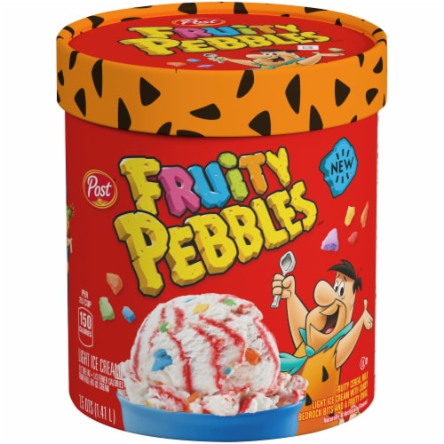 Fruity Pebbles Cereal Milk Ice Cream Perspective: front