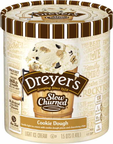 Dreyer's/Edy's Slow Churned Cookie Dough Light Ice Cream Perspective: front