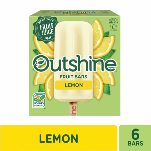 Outshine Lemon Fruit Ice Bars Perspective: front