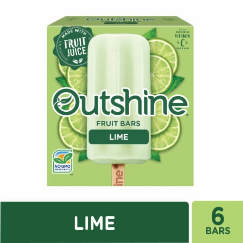 Outshine Lime Fruit Ice Bars Perspective: front