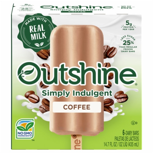 Outshine Simply Indulgent Creamy Coffee Dairy Bars Perspective: front