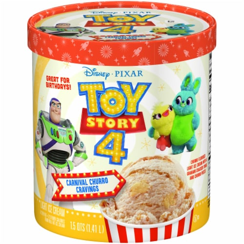 Toy Story 4 Carnival Churro Cravings Light Ice Cream Perspective: front
