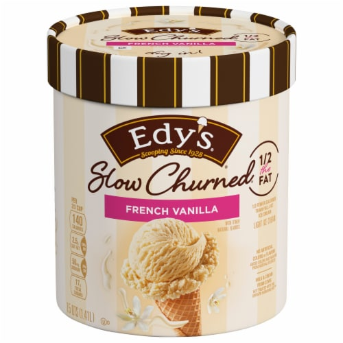 Dreyer's Slow Churned French Vanilla Light Ice Cream Perspective: front