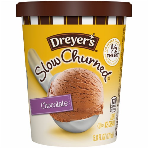 Dreyer's/Edy's Slow Churned Chocolate Light Ice Cream Perspective: front