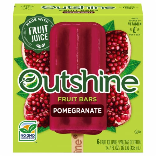Outshine Pomegranate Fruit Ice Bars Perspective: front