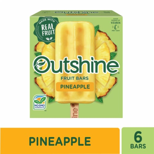 Outshine Pineapple Fruit Bars 6 Count Perspective: front