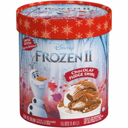 Disney Frozen 2 ChocOLAF Fudge Swirl Ice Cream Perspective: front