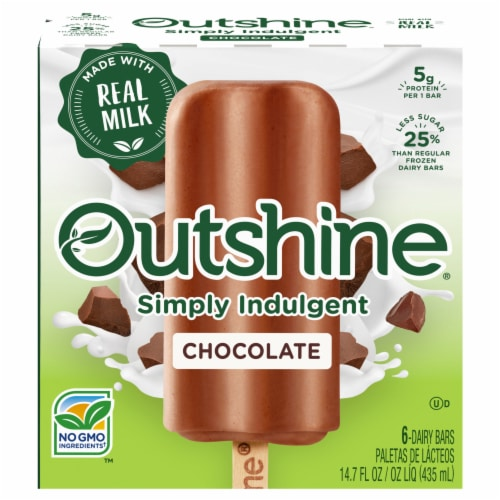Outshine Simply Indulgent Creamy Chocolate Dairy Bars Perspective: front