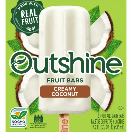 Outshine Creamy Coconut Frozen Fruit Bars Perspective: front