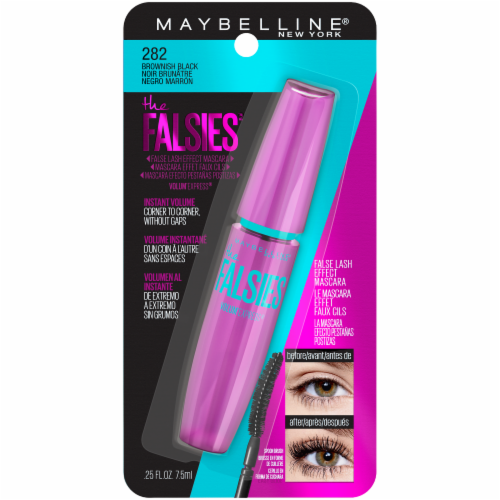 Maybelline Falsies Brown Black Mascara Perspective: front