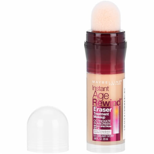 Maybelline Instant Age Rewind Creamy Ivory Eraser Foundation Perspective: front