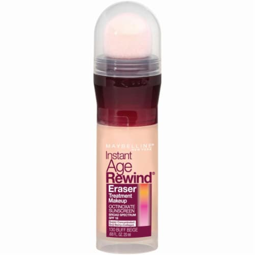 Maybelline Instant Age Rewind 130 Buff Beige Eraser Foundation Perspective: front