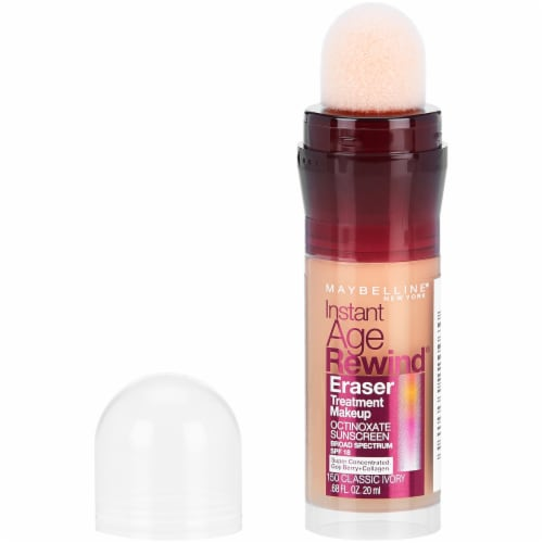 Maybelline Instant Age Rewind Classic Ivory Eraser Foundation Perspective: front