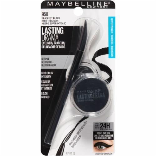Maybelline Eyestudio Lasting Drama Blackest Black Gel Eyeliner Perspective: front