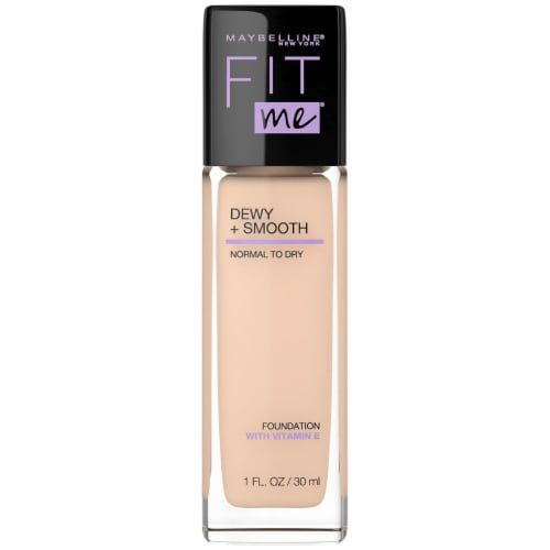 Maybelline Fit Me Dewy + Smooth Ivory Foundation Perspective: front
