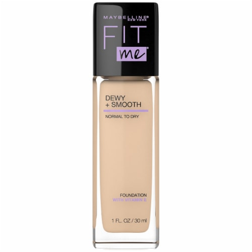 Maybelline Fit Me Dewy + Smooth Classic Ivory Foundation Perspective: front