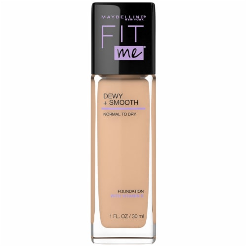 Maybelline Fit Me Dewy + Smooth Nude Beige Foundation Perspective: front