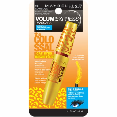 Maybelline Volum' Express The Colossal Cat Eyes Glam Black Waterproof Mascara Perspective: front