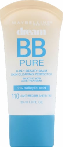 Maybelline Dream Pure BB Cream 110 Light / Medium Skin Clearing Perfector Perspective: front