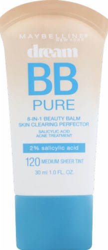 Maybelline Dream Pure BB Cream 120 Medium Skin Clearing Perfector Perspective: front
