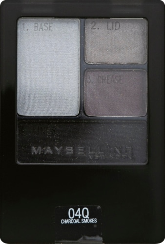 Maybelline Expert Wear Charcoal Smokes Eyeshadow Quad Perspective: front
