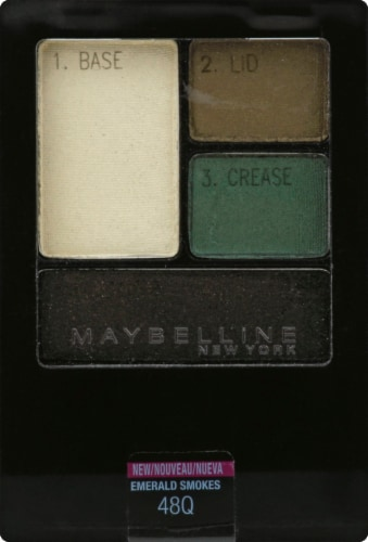 Maybelline Expert Wear Emerald Smokes Eye Shadow Quads Perspective: front