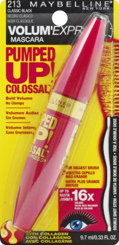 Maybelline Pumped Up! Colossal 213 Classic Black Mascara Perspective: front