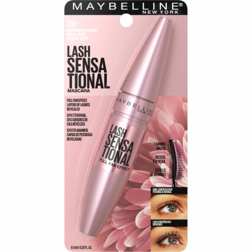 Maybelline Lash Sensationa 255l Brownish Black Washable Mascara Perspective: front