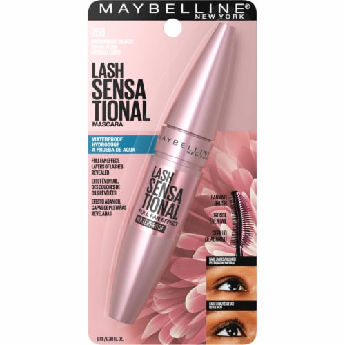 Maybelline Lash Sensational Brownish Black Waterproof Mascara Perspective: front