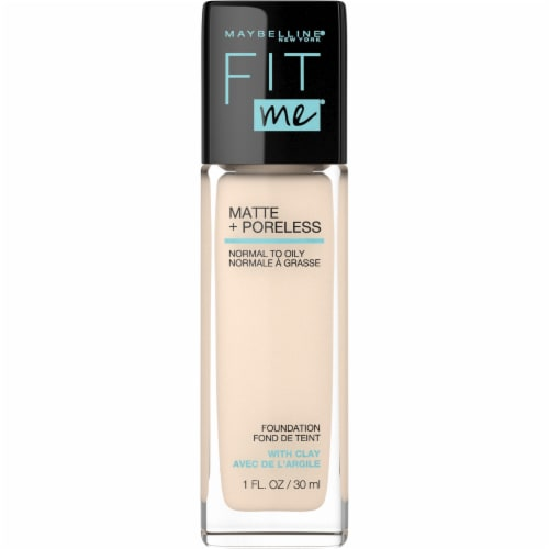 Maybelline Fit Me 110 Porcelain Matte + Poreless Liquid Foundation Perspective: front