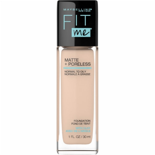 Maybelline Fit Me 120 Classic Ivory Matte + Poreless Liquid Foundation Perspective: front