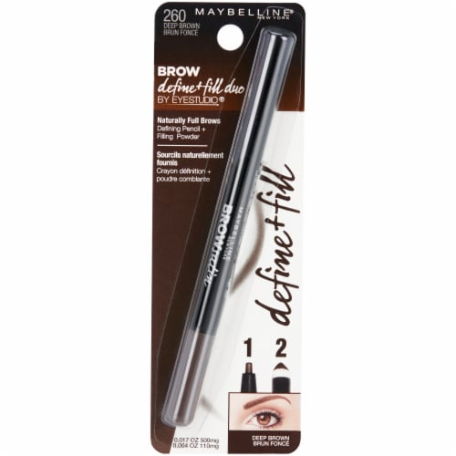 Maybelline Brow 260 Deep Brown Define + Fill Duo Perspective: front