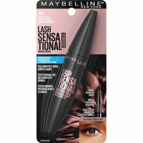 Maybelline Lash Sensational Luscious Waterproof Very Black Mascara Perspective: front