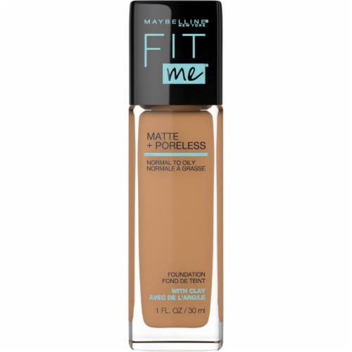 Maybelline Fit Me! Matte + Poreless 332 Golden Caramel Liquid Foundation Perspective: front