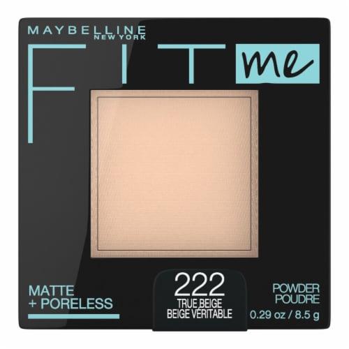 Maybelline Fit Me Matte & Poreless 222 True Beige Face Powder Perspective: front